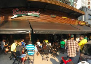 Fachada do Bar Baccará, em Embaré, bairro de Santos